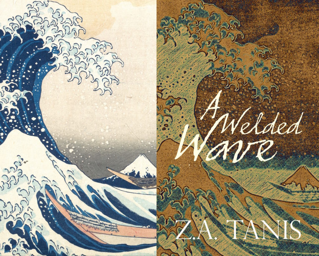 Great Wave off Kanagawa beside Book Cover